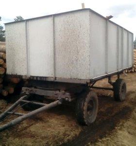 Вывоз мусора тракторной телегой