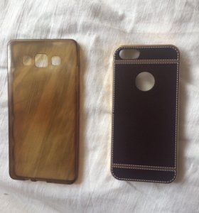 Чехлы силиконовые на Самсунг А5. на айфон 5, и 5s