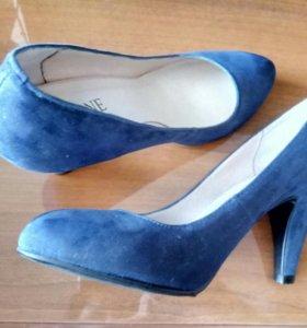 Новые туфли замша
