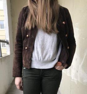 Куртка из натуральной замши naf naf