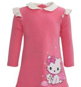 Платье Хохотушка с шелкографией интерлок