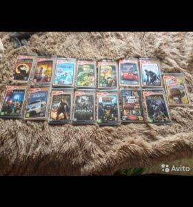 PSP + чехол + 15 игр