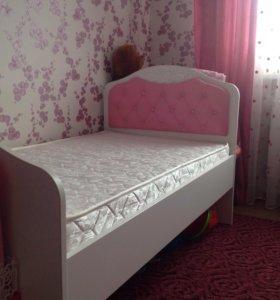 """Детская кровать для девочки """"Принцесса"""""""
