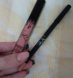 Блеск и карандаш для губ KYLIE