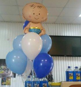 Воздушные шарики на выписку из роддома.