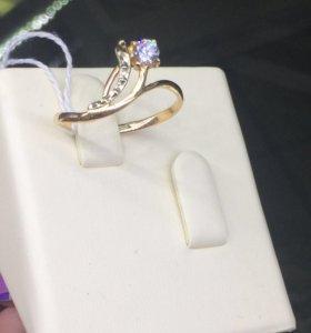 Кольцо золотое 585