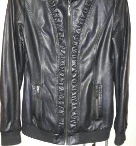 Кожаная женская куртка.