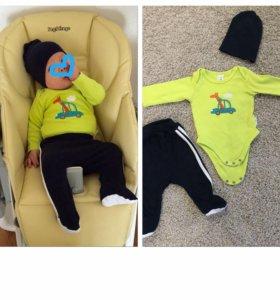 Пакет одежды на мальчика, 54-62 см