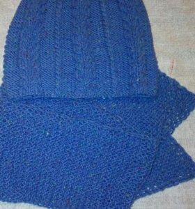 Женская шапка и шарф ручной работы