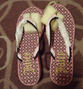 Новые сандали шлепанцы босоножки juicy couture