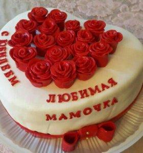 Торт для мамы с юбилеем