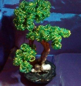 Небольшое бисерное деревце