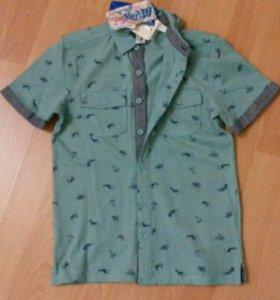 Новая фирменная футболка-поло,146