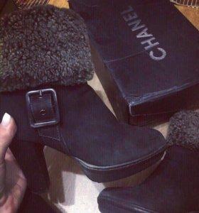Ботинки натуральные полностью)