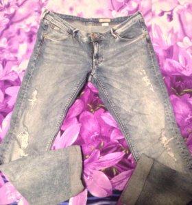 H&M джинсы бойфренды