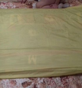 Матрас в дет.кроватку + наматрасник