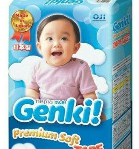 Подгузники М 6-11кг 64 шт Генки (Genki)