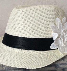 Шляпа для девочки примерно 50 размер 2шт