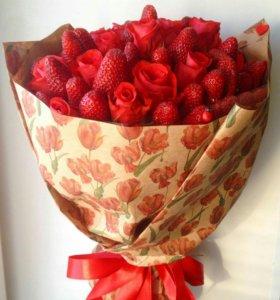 Букет из клубники 🍓 оригинальный подарок 🍓 цветы