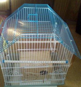 Клетка и гнездо для попугаев