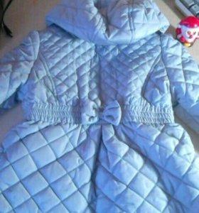 Пальто доя девочки, 92 см.демисезон