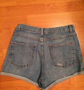Джинсовые шорты высокая талия