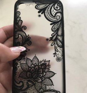 Ажурный чехол на Айфон 7. Красивый полупрозрачный