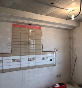Облицовка плиткой ремонт под ключ