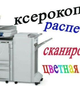 Распечатка и копирование документов