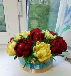 Гофрированные цветы на заказ