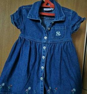 Платье джинсовое carters , размер 2Т