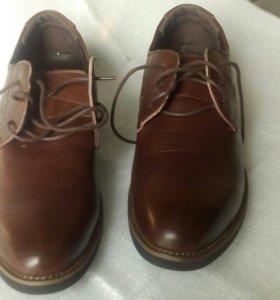 Ботинки из кожи