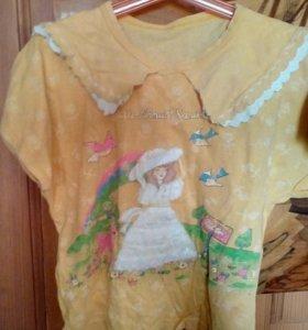 Кофта футболка летняя на девочку 7-8 л
