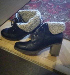 Женские коженные ботинки