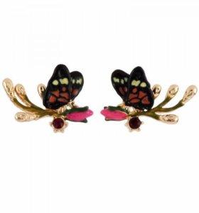 Серьги с бабочками из новой коллекции Nereides