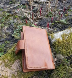 Бумажник-кошелек ручной работы