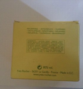 Nature eau de parfum, Yver Rocher 75 ml.
