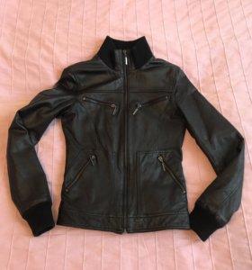 Кожаная куртка Love Republic натуральная