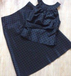Костюм женский юбка топ платье на выход в о/с XS-S