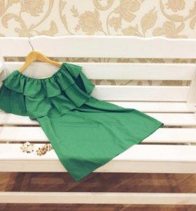Новое платье с рюшами