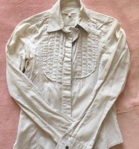 Белая рубашка б/у