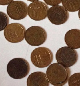 Продам монеты 1997 .1998.2000.2001.2002.2003.2004.