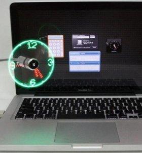 USB вентилятор UF-211-07 LED часы