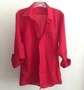 Рубашка красная