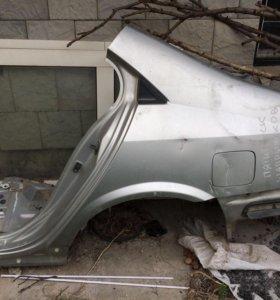 Заднее левое крыло на Nissan Primera P12