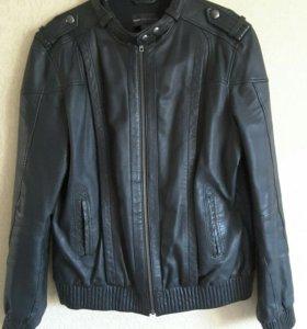 Куртка-бомбер кожаная, унисекс