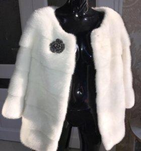 Норковая шуба куртка пальто жилет из песца