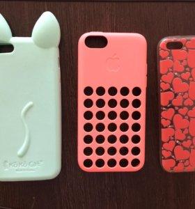 3 чехла на айфон 5с