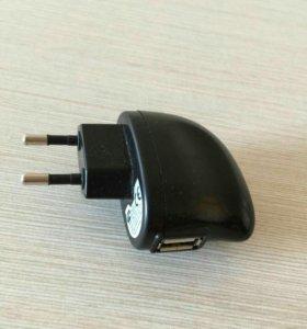 Вилка с USB разъемом