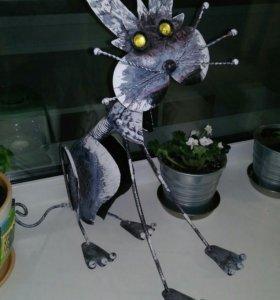 Фигурка железная коте